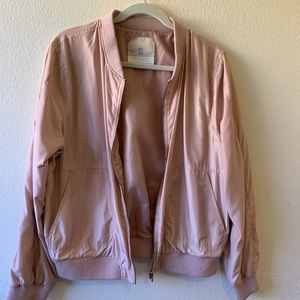 Rose Gold/Light Pink Bomber Jacket from Anthro